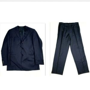 Hugo Boss Einstein Suit 44L 34 X 33 Navy Stripe